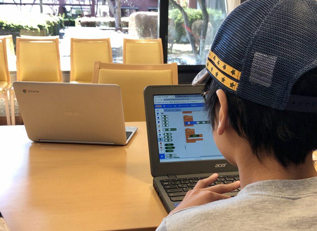 嵐山・滑川教室にて(プログラミング教室)